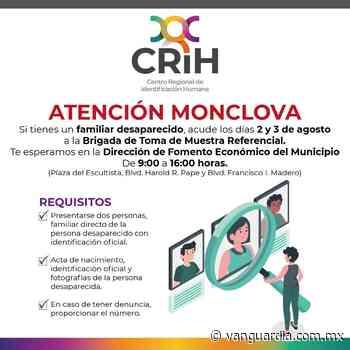 Anuncian toma de muestras referencial en Monclova los días 2 y 3 de agosto - Vanguardia MX