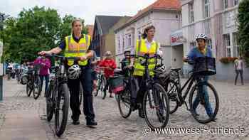 Polizei gibt Präventionstipps bei einer Radtour durch Achim - WESER-KURIER - WESER-KURIER