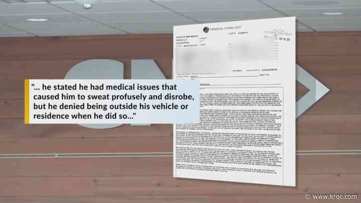Nude local man claims medical condition causes him to sweat, disrobe