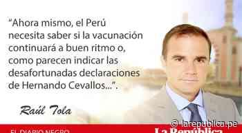 El impasible, por Raúl Tola - La República Perú