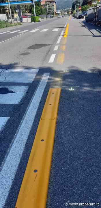 SOVERE - Quella pista ciclabile dai bordi pericolosi e con gli ostacoli sulle strisce pedonali - Araberara