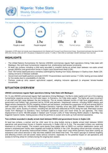 Nigeria: Yobe State - Weekly Situation Report No. 7 (As of 19 July 2021) - Nigeria - ReliefWeb
