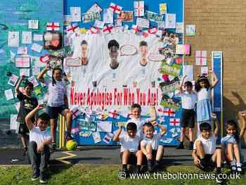 Bolton schoolchildren create their own Marcus Rashford mural