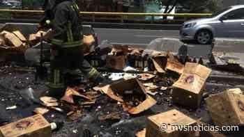 Bomberos retiran cervezas regadas en Rio San Joaquín - MVS Noticias