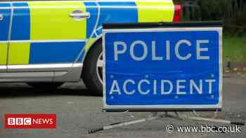 M74 motorway closed after crash with two motorbikes and car