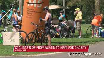 Cyclists ride from Austin to Iowa for charity - KAAL