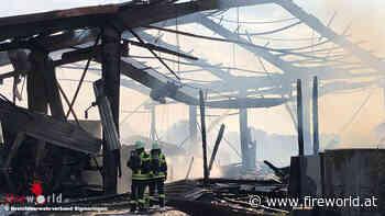 D: Heustock brennt oberhalb des Rinderstalls in Herbertingen → 100 Rinder ins Freie gebracht   Fireworld.at - Fireworld.at