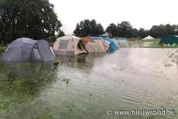 Even dreiging van het water voor FOS scouts in Luxemburg