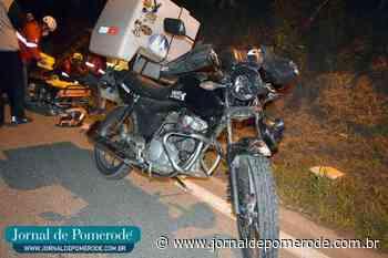 Motociclista fica ferido em queda de moto, na SC-421 - Jornal de Pomerode