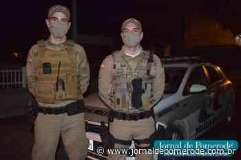 Policiais Militares salvam bebê engasgado, em Testo Rega - Jornal de Pomerode