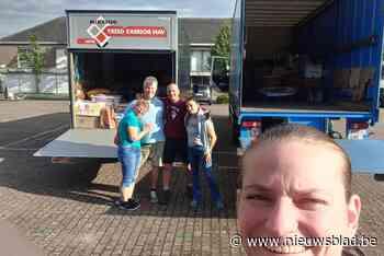 Femke Hemans helpt in Verviers