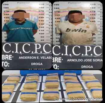 Capturados dos hombres con ocho kilos de presunta droga en Punto Fijo - El Carabobeño