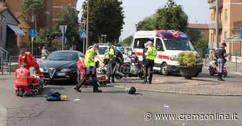 Crema. Auto contro scooter, ferita una donna - Crem@ on line