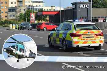 Air ambulance called to crash in Lottbridge Drove, Eastbourne