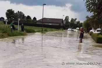 Water zet verschillende straten blank in Meise op moment dat brandweer bijspringt in Wallonië