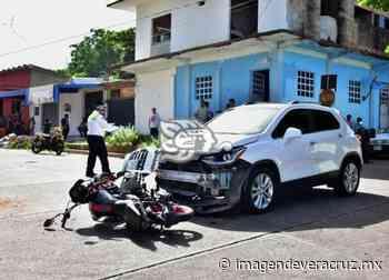 Albañil lesionado tras choque registrado en barrio San Diego de Acayucan - Imagen de Veracruz
