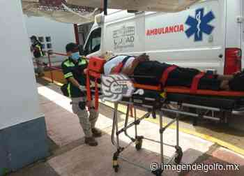 Dos lesionados por accidente en Acayucan atendió PC - Imagen del Golfo