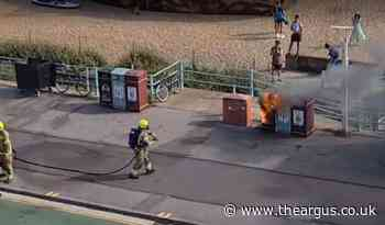Two bin fires and an 'out of control bonfire' in Brighton