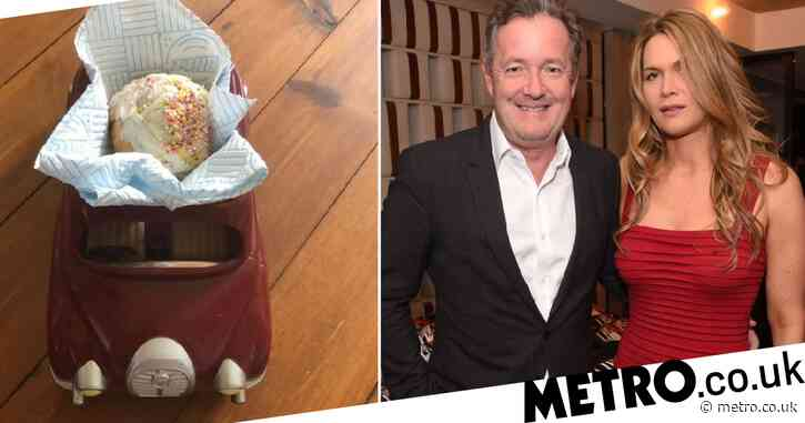 Piers Morgan's wife using battery-operated toy car to send him treats as he battles Covid