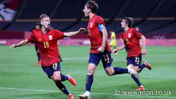 Spain leave it late to beat Australia for first Olympic win