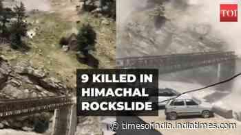 On cam: Rockslide kills 9 in Himachal Pradesh