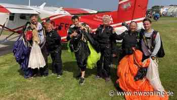 Fallschirmspringen in Ganderkesee: Für den freien Fall gibt's keine Altersgrenze - Nordwest-Zeitung