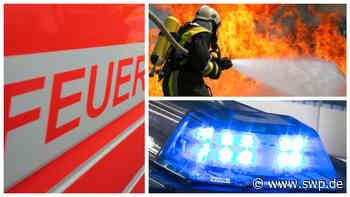 Feuerwehr Dettingen/Erms: Holzspäne in Brand geraten - SWP
