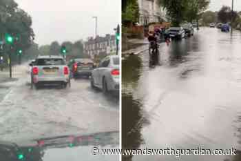 Footage shows areas in south London 'submerged' by flooding