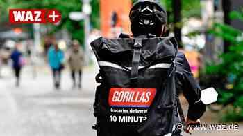 Gorillas: Kuriere liefern in Gelsenkirchen Waren im Eiltempo - WAZ News