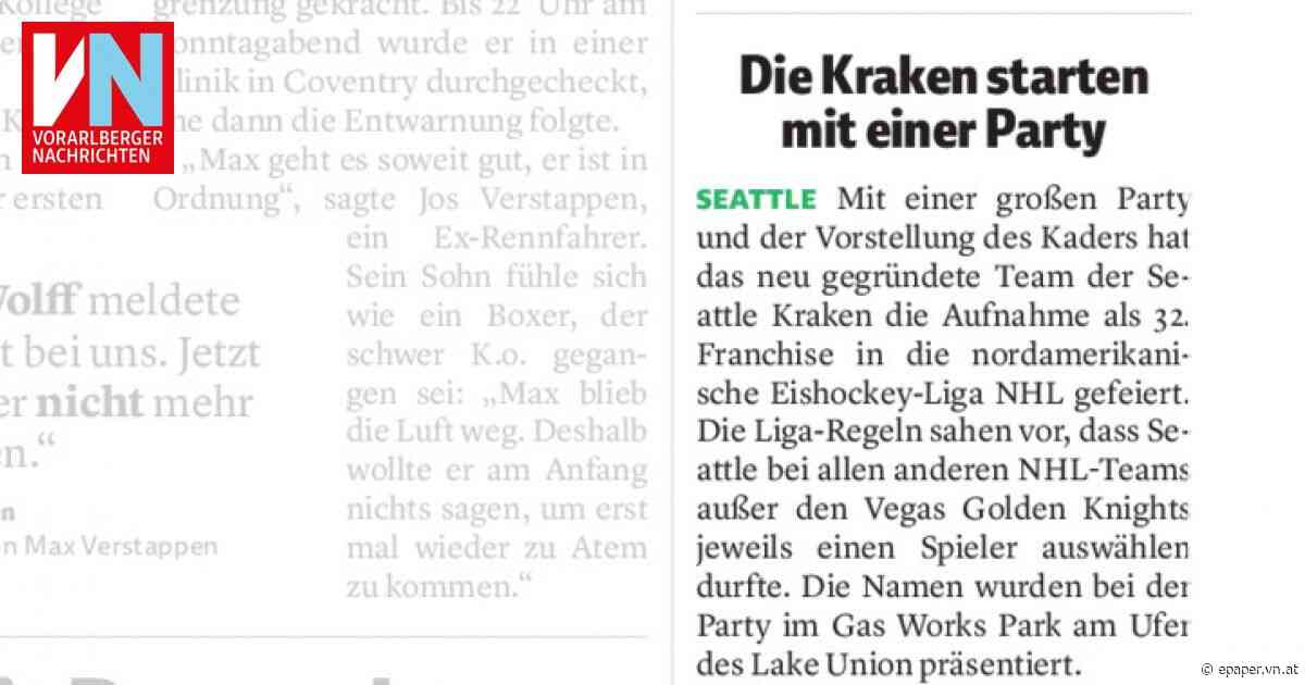 Die Kraken starten mit einer Party - Vorarlberger Nachrichten | VN.AT