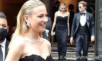 Pixie Lott oozes class as she steps out in Rome wearing an elegant black dress