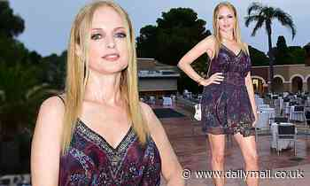 Heather Graham catches the eye in a multi-coloured mini dress at theFilming Italy Festival