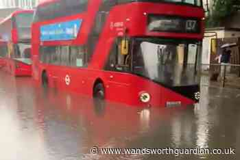 Pictures show flooding in Battersea after torrential rain