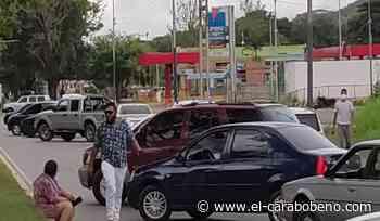 Protesta en Naguanagua por gasolina - El Carabobeño