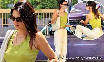 Kendall Jenner drives classic 1960 Cadillac Eldorado in Malibu