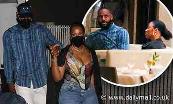 LeBron James and wife Savannah dine out in Beverly Hills