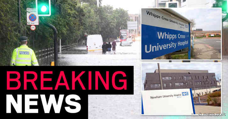 Two hospitals declare 'major incidents' as A&E departments flooded