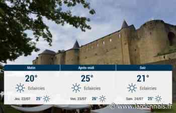 Sedan et ses environs : météo du mercredi 21 juillet - L'Ardennais