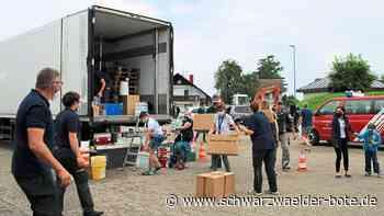 Spendenbereitschaft ist riesig - Hilfe aus Herrenalb für Hochwasseropfer - Schwarzwälder Bote