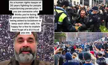 Human rights lawyer whose refugee grandparents fled genocide slams 'd***head' protesters