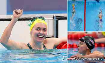Ariarne Titmus beats Katie Ledecky for gold in 400m freestyle final at Tokyo Olympics