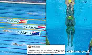 Channel Seven is blasted for 'annoying' new graphic showing the speed of swimmers at the Olympics