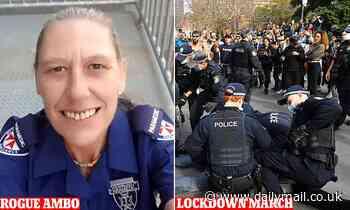 Sally-Ann John: NSW Ambulance paramedic streamed Saturday's lockdown protest