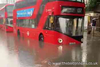 London homes, roads and Tube stations flooded as thunderstorms strike - The Bolton News
