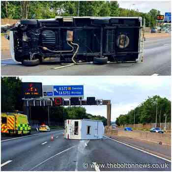 'Drink driver' flipped motorhome causing long delays on M60 - The Bolton News