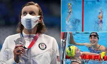 Swimmer Katie Ledecky wins silver in 400-meter free-style