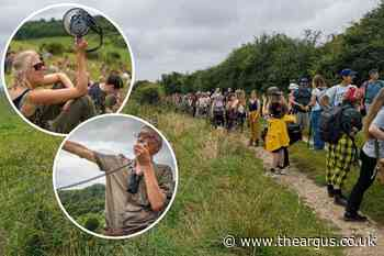 Mass trespass attended by 300 on Brighton Downs