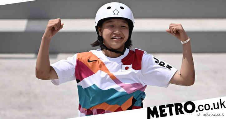 Japan's Momiji Nishiya, 13, wins Olympic gold in women's skateboarding