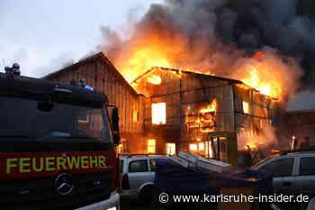 Mit Tieren: Flammen-Inferno zerstört Bauernhof in Baden-Württemberg - Karlsruhe Insider