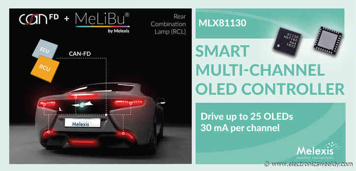 Melexis OLED controller drives point and area lighting